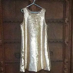 Gold/ Silver flip dress.